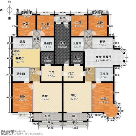 秋实��汇4室2厅4卫2厨249.54㎡户型图