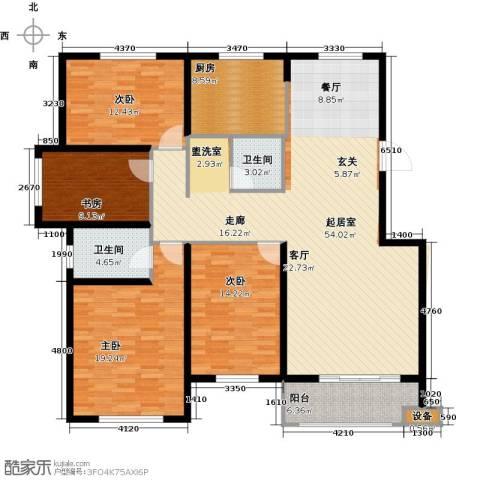 紫金湾4室0厅2卫1厨147.00㎡户型图