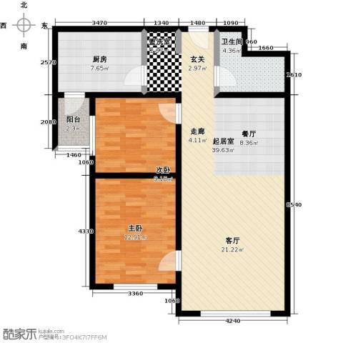 恒奥凤凰城2室0厅1卫1厨89.00㎡户型图