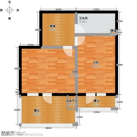 天茂湖三期温莎园2室0厅1卫0厨86.00㎡户型图