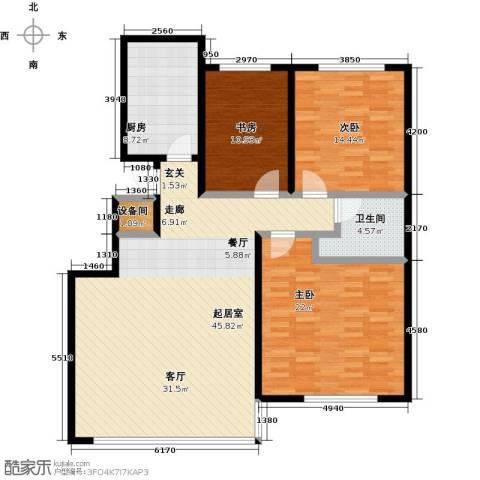 恒奥凤凰城3室0厅1卫1厨122.00㎡户型图
