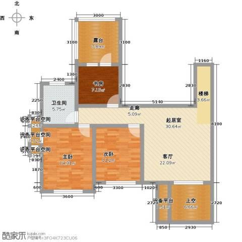 天茂湖三期温莎园3室0厅1卫0厨126.00㎡户型图