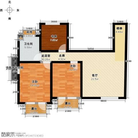 天茂湖三期温莎园3室0厅1卫0厨110.00㎡户型图