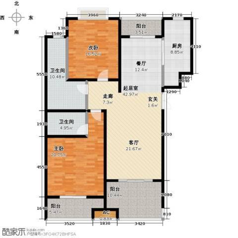 天星浅水湾2室0厅2卫1厨141.00㎡户型图