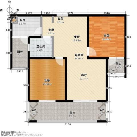 天星浅水湾2室0厅1卫1厨113.00㎡户型图