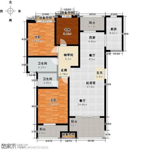 天星浅水湾3室0厅2卫1厨144.00㎡户型图