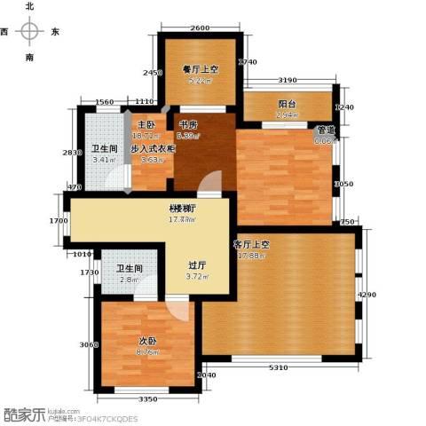 天乙海岸名都2室0厅2卫0厨84.00㎡户型图