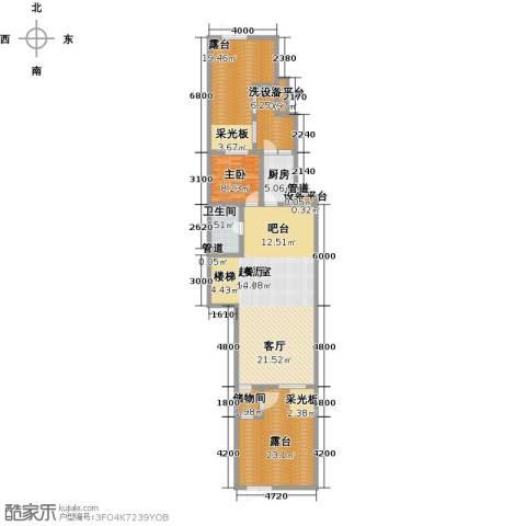 天茂湖三期温莎园1室0厅1卫1厨171.00㎡户型图