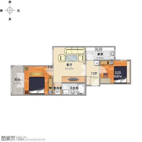 草桥欣园四区2室1厅1卫1厨68.00㎡户型图