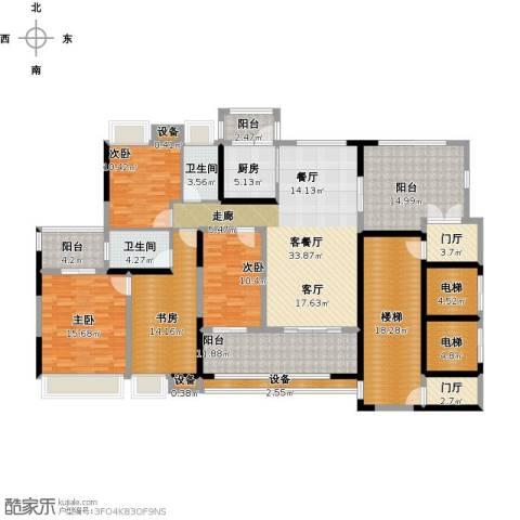 城市假日4室1厅2卫1厨245.00㎡户型图