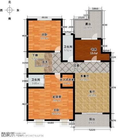 博鑫青年城三期3室1厅2卫0厨341.00㎡户型图
