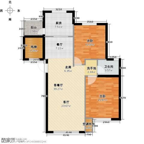鼎盛佳苑2室1厅1卫1厨121.00㎡户型图