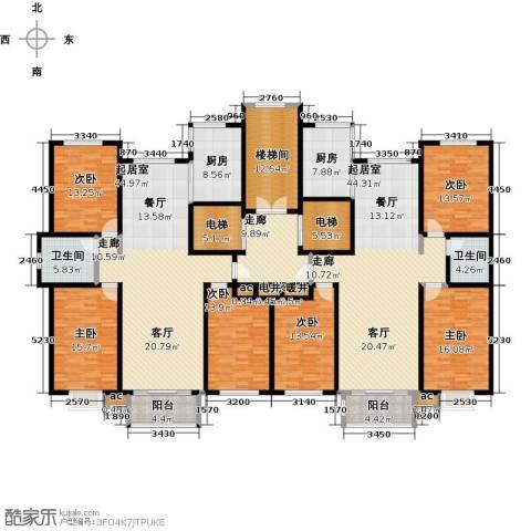 德州万豪华庭公馆6室0厅2卫2厨347.00㎡户型图