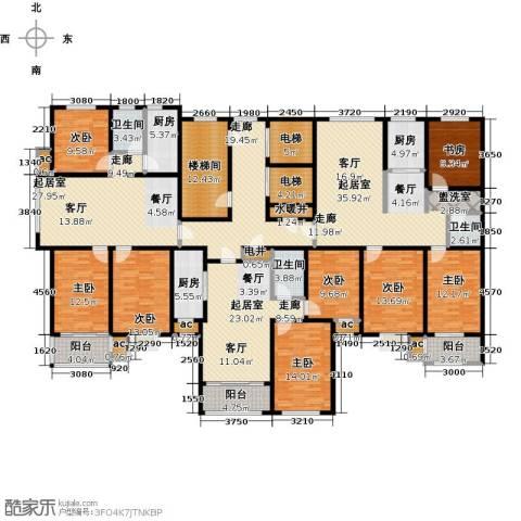 德州万豪华庭公馆8室0厅3卫3厨381.00㎡户型图