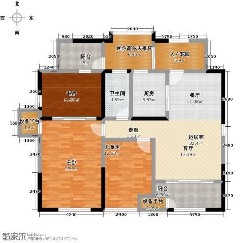 金地澜悦3室0厅1卫1厨118.22㎡户型图