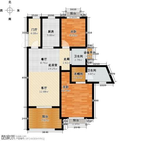 开维生态城2室0厅2卫1厨94.00㎡户型图