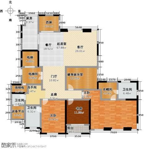 金地澜悦3室0厅3卫1厨222.00㎡户型图