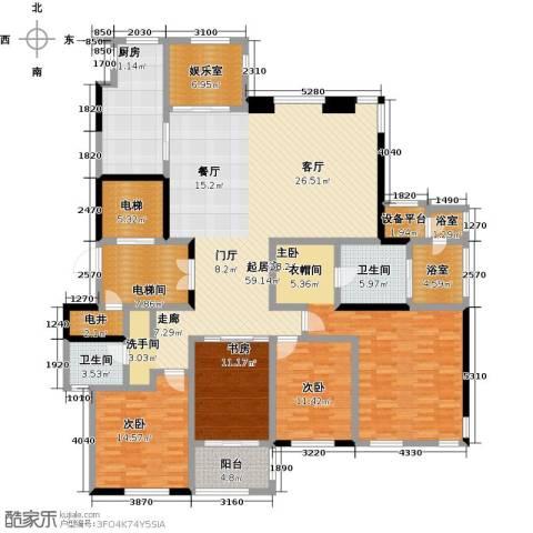金地澜悦4室0厅2卫1厨179.76㎡户型图