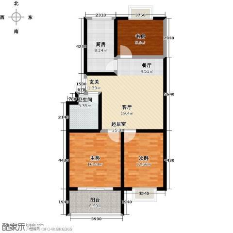 金都时代新城3室0厅1卫1厨102.00㎡户型图