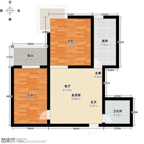 欣欣家园2室0厅1卫1厨73.00㎡户型图