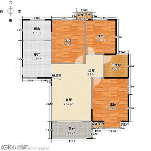 运河春天3室0厅1卫1厨106.12㎡户型图