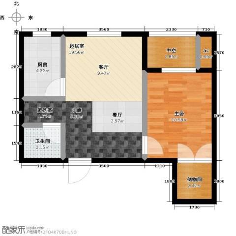 东北MALL1室0厅1卫1厨62.00㎡户型图