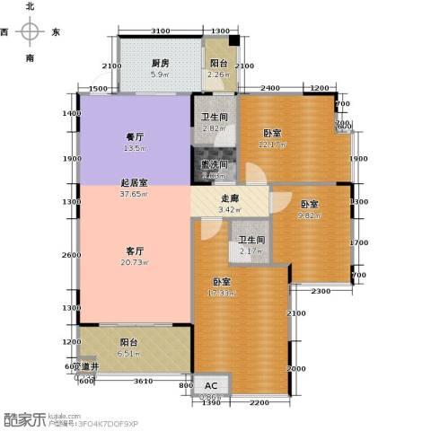 金印豪庭2卫1厨118.00㎡户型图