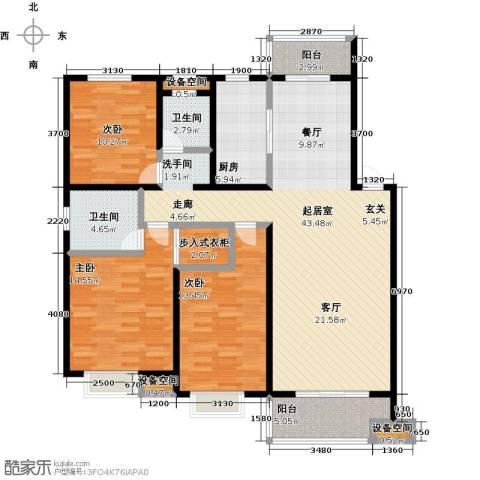伟星玲珑湾3室0厅2卫1厨122.00㎡户型图