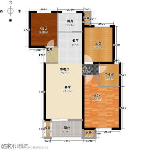 东方城3室1厅1卫1厨105.00㎡户型图