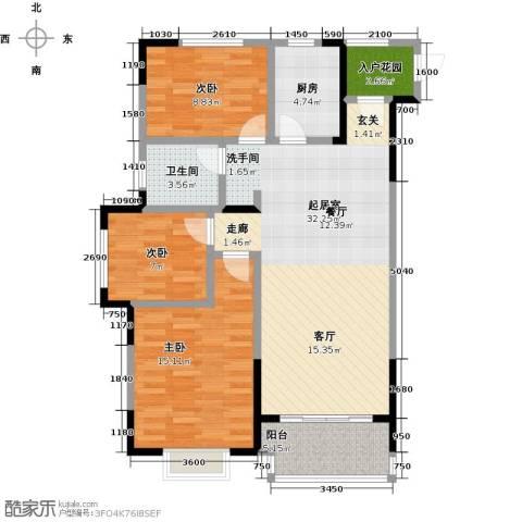 伟星玲珑湾3室0厅1卫1厨90.00㎡户型图