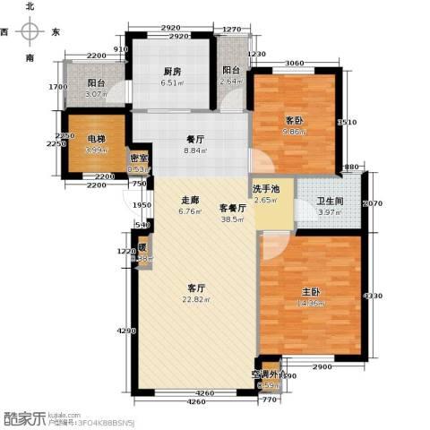 鼎盛佳苑2室1厅1卫1厨119.00㎡户型图