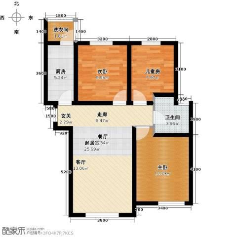 麓城3室0厅1卫1厨102.00㎡户型图