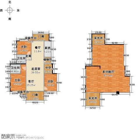 远大生态风景3室0厅2卫1厨280.00㎡户型图