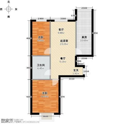 富景华庭2室0厅1卫1厨84.00㎡户型图