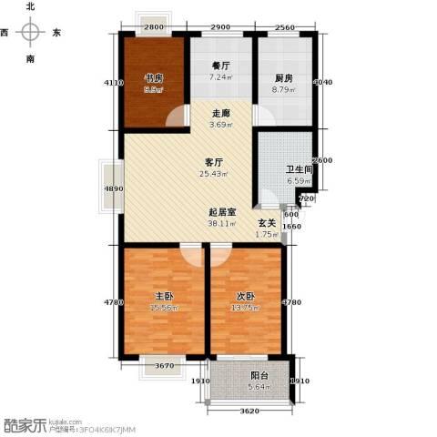 金都时代新城3室0厅1卫1厨111.00㎡户型图