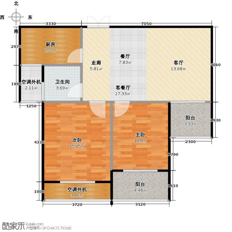 福晟观邸83.00㎡高层13号楼D3―2户型