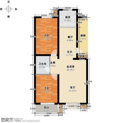 富景华庭2室0厅1卫1厨89.00㎡户型图