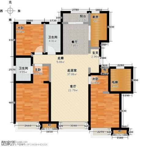 万科城3室0厅2卫1厨120.00㎡户型图