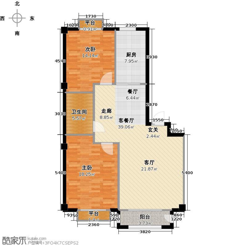 春霖未来城99.74㎡二期小高层户型2室2厅1卫