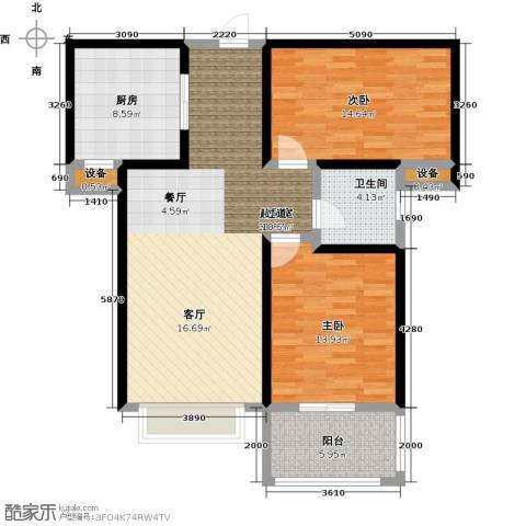 悦水澜庭2室0厅1卫1厨90.00㎡户型图