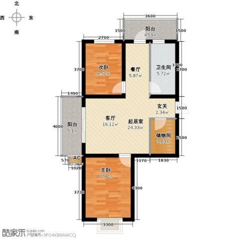 富景华庭2室0厅1卫0厨85.00㎡户型图