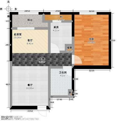 东北MALL1室0厅1卫1厨72.00㎡户型图