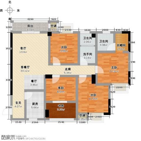 九坤翰林苑5室1厅2卫1厨121.00㎡户型图