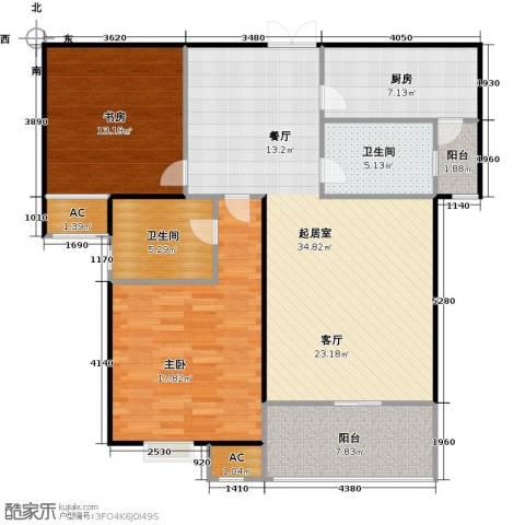 沁水新城观天下2室0厅2卫1厨103.00㎡户型图