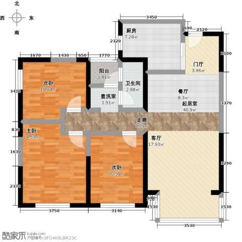 元氏天山水榭花都3室0厅1卫1厨102.00㎡户型图