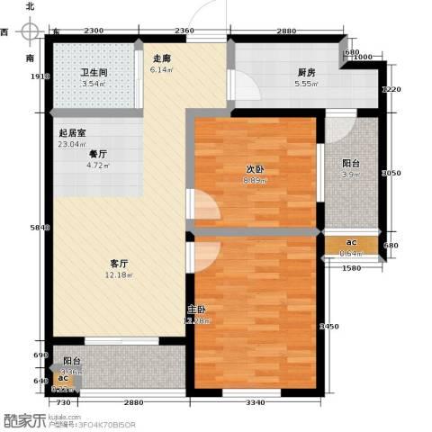 东北MALL2室0厅1卫1厨89.00㎡户型图