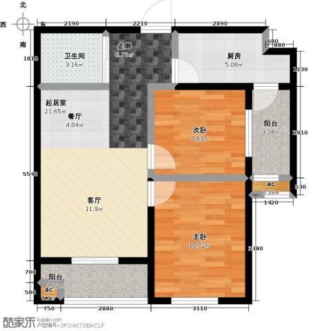 东北MALL2室0厅1卫1厨81.00㎡户型图
