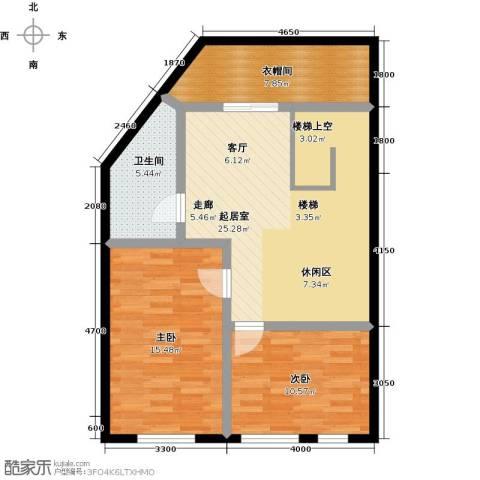 汇雄时代2室0厅1卫0厨93.00㎡户型图