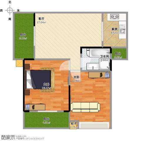 清风华园2室1厅1卫1厨84.00㎡户型图