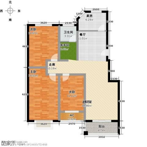 锦绣花园3室0厅1卫1厨150.00㎡户型图